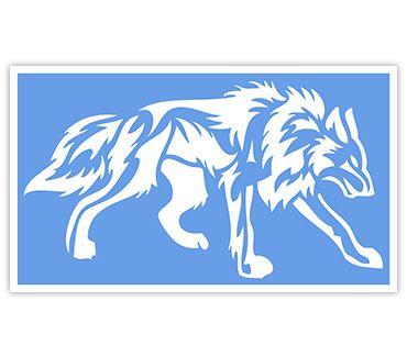 Трафарет для тату Волк № 3