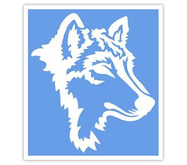 Трафарет для тату Волк № 5