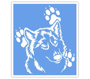 Трафарет для тату Волк № 8